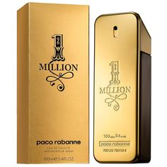 Paco Rabanne 1 Million Eau de Toilette Spray for Men, 3.4 Fluid Ounce Paco Rabanne's 1 Million is best known for its male characters, sexy and seducing scent. It best suits young, professional men who seek to grab girl's attention as it is long lasting, and gives off pleasant scents no matter how active the men are. As the name suggest, there are 1 million reasons to love and to wear this Eau de Toilette. #fragrance #men #2015 #best #scent