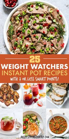 With this collection of 25 Weight Watchers Instant Pot Recipes, it's never been easier to stick with your healthy eating plan. Featuring breakfasts, s. Best Instant Pot Recipe, Instant Pot Dinner Recipes, Supper Recipes, Lunch Recipes, Appetizer Recipes, Healthy Recipes, Ww Recipes, Appetizers, Instant Pot Pressure Cooker