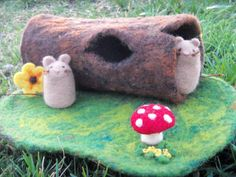 Mousetacular felted wool playscape by Lisa Cooper