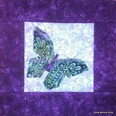 Smilie Mommy Quilts: 2013 November ~ Picturing Piecing Butterfly Quilt Block with Fussy Cutting ~ IQBS