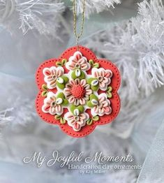 Handcrafted Polymer Clay Ornament by Kay Miller on Etsy $6.00 by debbie