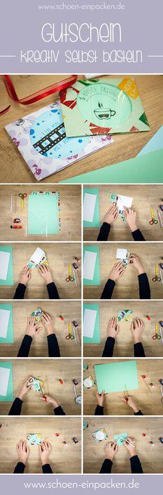 kreativen Gutschein basteln ganz einfach eine tolle Verpackungsidee!