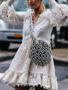 Casual V Neck Lace Hollow Out See-Through Bell Sleeve Dress – blouse designs latest,chic blouses,lace women blouses,solid colour blouse outfit,autumn blouses for women Party Dresses For Women, Sexy Dresses, Vintage Dresses, Casual Dresses, Dresses With Sleeves, Summer Dresses, Vacation Dresses, Sleeve Dresses, Dresses Dresses
