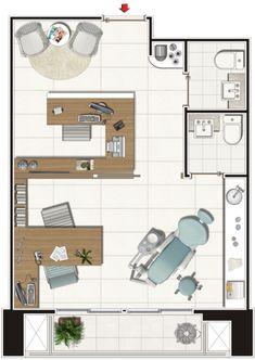 Planta - Salas de 34m² | Brooklin