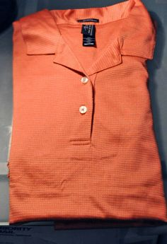 GN Mens PAGE & AND TUTTLE ORANGE WHITE GOLF SHIRT GexPro MEDIUM M POLO GOLFING  $24.99