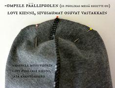 DIY: Rusettipipo - Punatukka ja kaksi karhua Dyi, Baby Hats, Knitted Hats, Beanie, Knitting, Sewing, Clothes, Fashion, Baby Sewing