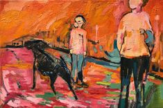 Sue Kaplan   Orange Is The New Black (2020) - art for sale   StateoftheART South African Artists, Black Oil, The Donkey, Orange Is The New Black, State Art, Art For Sale, New Art, Art Gallery, Paintings