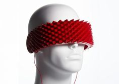 What in the world are these spikey headphones you wear on your face? The OneSense headphones aim to bring complete isolation to the music lover in you.      http://www.digitaltrends.com/gadgets/what-in-the-world-are-these-spikey-headphones-you-wear-on-your-face/