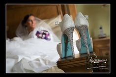 Photo by Impressions Photo and Video http://impressionsphotoandvideo.com/ #NJWeddings #WeddingPhotography #WeddingIdeas #SomethingBlue #IDo #WeddingShoes #WhiteHeels