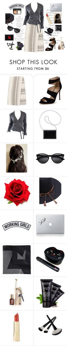 """""""All wrapped up!"""" by archsan ❤ liked on Polyvore featuring Tory Burch, Carvela, Geoffrey Beene, Nine West, Working Girls, Vinyl Revolution, BOSS Black, Estée Lauder, wrapupskirt and wrapupoutfit"""