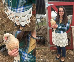 Use this FREE crochet pattern to make An Egg-cellent Apron. Harvest up to NINETEEN eggs each morning!