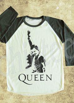 QUEEN Shirts Freddie Mercury Shirts women tshirt unisex tshirt baseball shirt 3/4 long sleeve shirt S M L