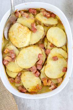 Cheese and Ham Potato Casserole