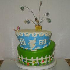 House warming party cake!  My mom and I made! Feottas custom cakes