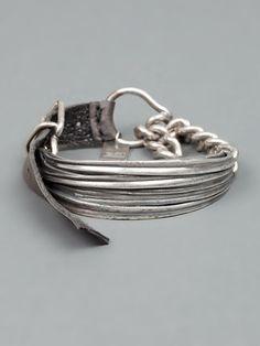 GOTI ribbed plaque bracelet