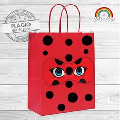 Sacola de Papel Miraculous 4th Birthday Parties, 8th Birthday, Birthday Party Favors, Frozen Birthday, Miraculous Cat Noir, Miraculous Ladybug Party, Ladybug And Cat Noir, Bug Cake, Paper Gift Bags