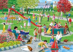 Gibsons Swings and Roundabouts Jigsaw Puzzle XL Pieces)