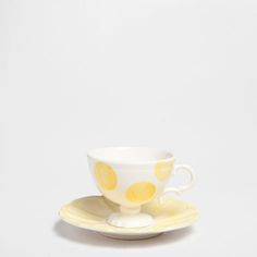 Hand-painted coffee cup and saucer with circles - Coffee and Tea - Tableware | Zara Home Canada