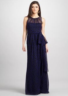 I love the sheer look of this dress! Gown by Jill for Jill Stuart.