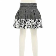SIMONETTA | Skirt twill wool with spotted flounce | $173.83
