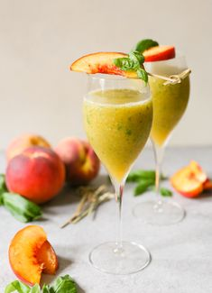 Casual Friday: Frozen Basil Bellinis