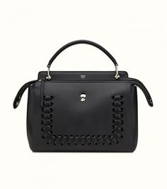Fendi Dotcom Medium Whipstitch Satchel Bag Leather Clutch Bags b6cb182f1aefb