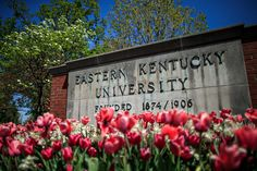 Spring time at Eastern Kentucky University. Love the tulips!! Richmond, KY.