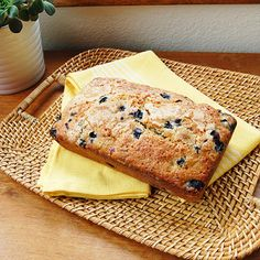 Blueberry Zucchini Bread - I made this today...just finished...they smell and look just like the one in this picture...I followed this recipe exactly....the first slice went to hubby...who said it was really good...he likes his slathered with butter...tomorrow mom gets her own loaf. 5/5 stars!!....Josie Munro Aug.3/13
