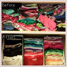 Shoebox organization for underwear drawer