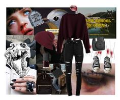 """""""Dead During Autumn"""" by child-of-jove ❤ liked on Polyvore featuring Yves Saint Laurent, Converse, Fujifilm, NARS Cosmetics, MAKE UP FOR EVER and New Look"""