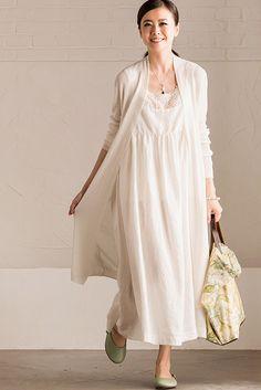 Art Cotton Linen Condole Belt Dress Summer Big Hem Women Clothes – FantasyLinen