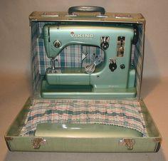 Ultra Vintage:  VIKING HUSQVARNA TYPE 21 AUTOMATIC SEWING MACHINE