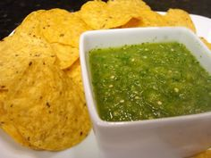Hatch Chile Salsa    5 roasted Hatch peppers  6 tomatillos ( cut in quarters )  1 garlic clove  juice of 1/2 a lime  1/4 Cup of cilantro  1 large jalapeno  salt to taste