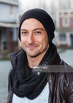 Australian actor Daniel Lissing poses for a portrait during Hearties Family Reunion fan convention for 'When Calls The Heart' at Jamestown on January 16, 2016 in Langley, Canada.
