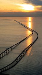 Chesapeake Bay Bridge Tunnel - Va Beach to Eastern Shore.  23 Miles - can anyone say Make it a Marathon Run?