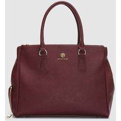 Sophia Tote Merlot GymTote (7.05 NZD) ❤ liked on Polyvore featuring bags, handbags, tote bags, hand bags, red tote bag, handbags totes, large zip tote and over the shoulder purse