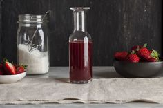 Simple Strawberry Syrup Made From Scratch