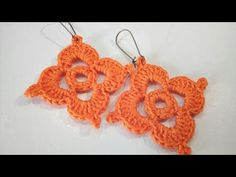 Brinco de croche com bolinhas passo à passo / Crochet earrings hoops with beads tutorial - YouTube
