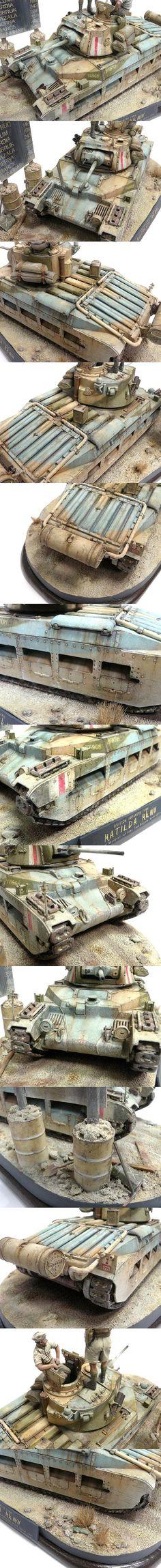 """Matilda Mk. III/IV. Phantom Regiment 1st Army Brigade. North Africa 1941. TAMIYA 1/35 scale. By Dennis """"Seed"""" Wong. #scale_model"""