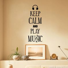 Stickers 'Keep Calm' - Sticker Keep Calm and Play Music | Ambiance-sticker.com