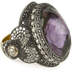 Sevan Bicakci Carved Amethyst Ring (Multi )