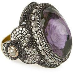 Sevan Bicakci Carved Amethyst Ring (Multi )