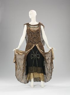 Evening Dress 1929, French, Made of silk