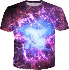 Crab Nebula | Universe Galaxy Nebula Star Clothes | Rave & Festival Shirt