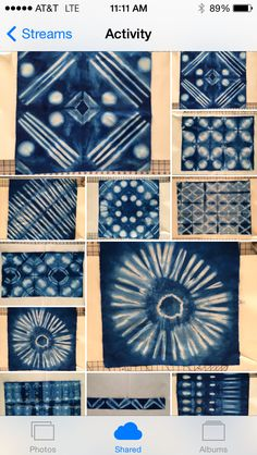 Shibori fabrics