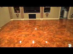 Metallic Epoxy Flooring Basement Floor - Fort Wayne Indiana