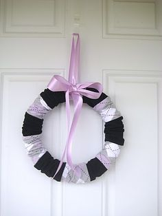 Sock Wreath! I am in LOVE with this!!!