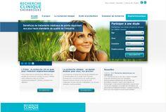 Le site Web de Recherche Clinique Sherbrooke. Une réalisation d'Axial Développement. #design Axial, Portfolio Website Design, Site Web, Science And Nature