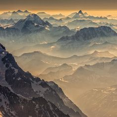 Layers of Alps from the summit of Mont Blanc.  |  photo by Renan Ozturk for National Geographic.