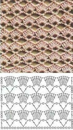 Blockieren Sie selbstgemachten Perlenschmuck und anderes Kunsthandwerk Knitting Techniques techniques used in knitting Crochet Motifs, Crochet Tunic, Crochet Diagram, Crochet Stitches Patterns, Crochet Chart, Love Crochet, Diy Crochet, Crochet Designs, Stitch Patterns